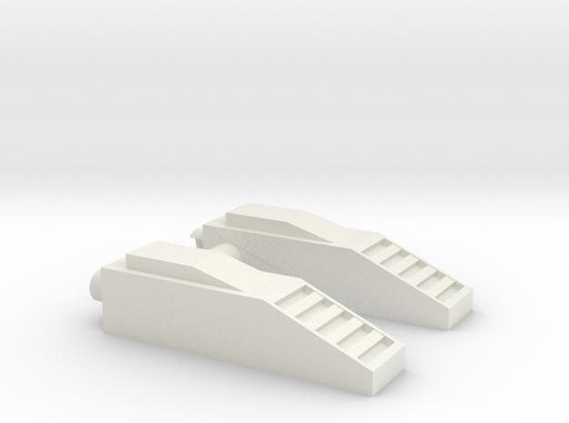 Up Fling shoulders. in White Natural Versatile Plastic