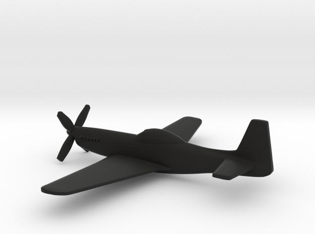North American P-51H Mustang (w/o landing gears) in Black Natural Versatile Plastic: 1:160 - N