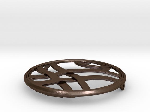 Threadbender Brooch in Polished Bronze Steel