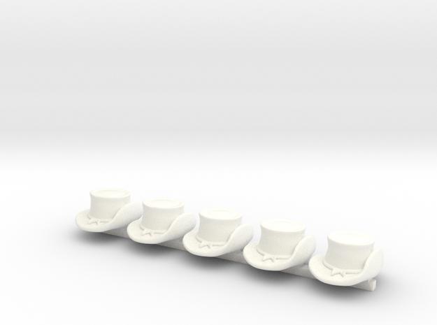 5 x Us Civil War T5 in White Processed Versatile Plastic