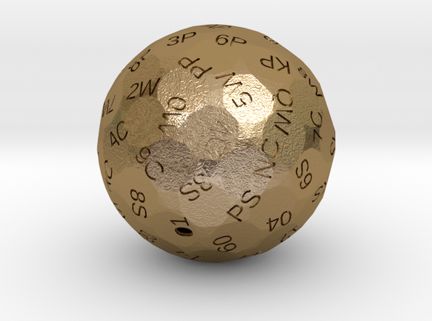 d78 Tarot (HOLLOW) in Polished Gold Steel