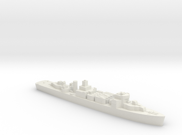 Polish ORP Gryf minelayer 1:3000 WW2 in White Natural Versatile Plastic