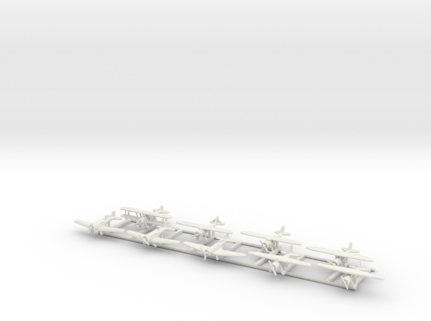 Early American Transports set 1/285 in White Natural Versatile Plastic