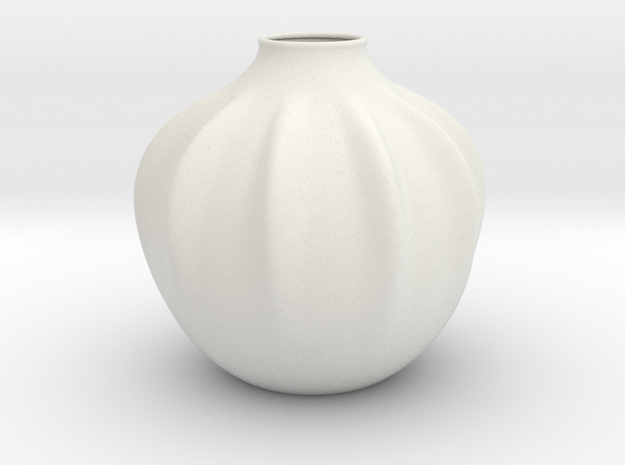 Vase 2220 in White Natural Versatile Plastic