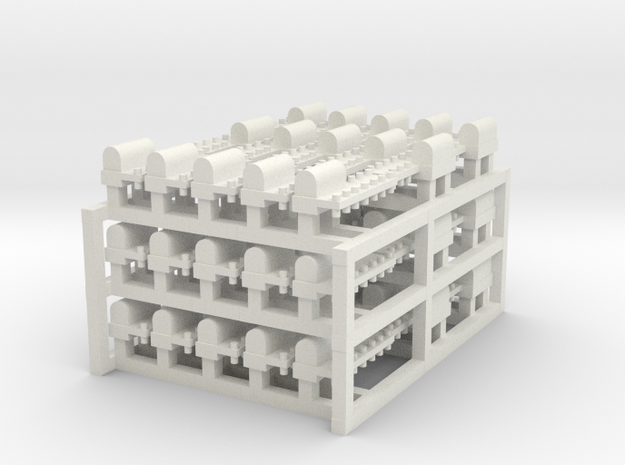 Tiny Naval Base x45 in White Natural Versatile Plastic