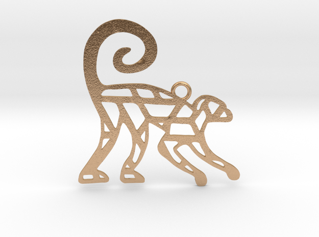 Year Of The Monkey Charm in Natural Bronze