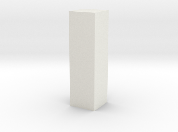 Tall Floor Block in White Natural Versatile Plastic