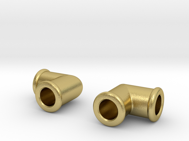 """Live Steam  ME 1/4"""" x 40 Elbow in Natural Brass"""