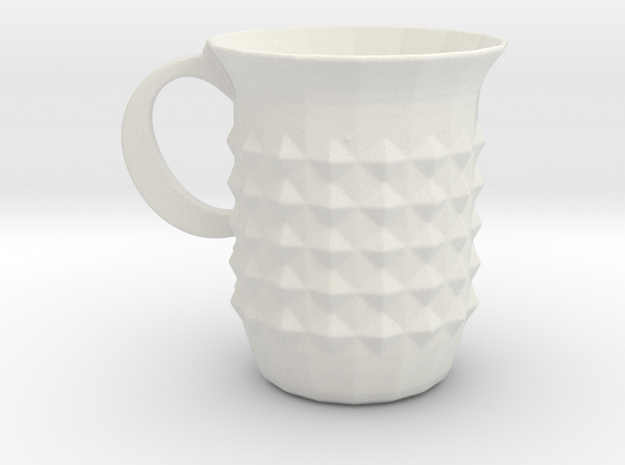 Tuesday Mug in White Natural Versatile Plastic