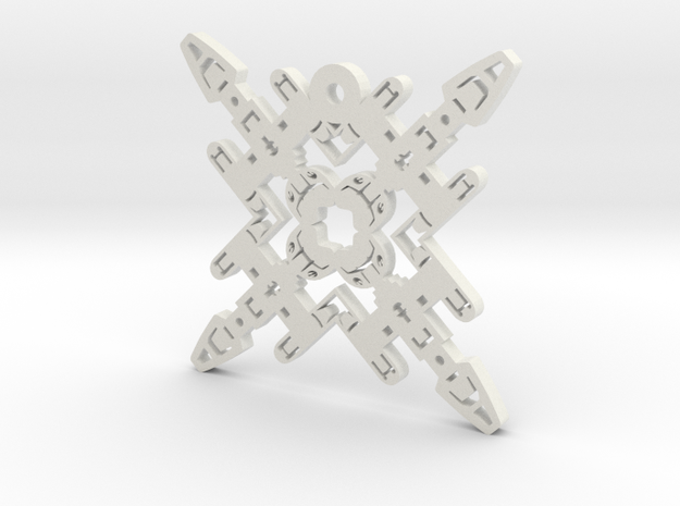 Nerdy Snowflakes - Y-Wing - 3in in White Natural Versatile Plastic