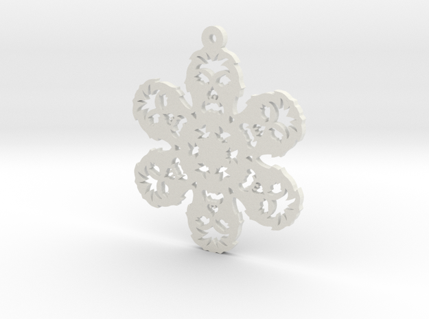 Nerdy Snowflakes - Chewbacca - 3in in White Natural Versatile Plastic