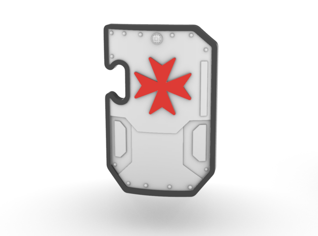Space Templar Boarding Shield Set in Smooth Fine Detail Plastic
