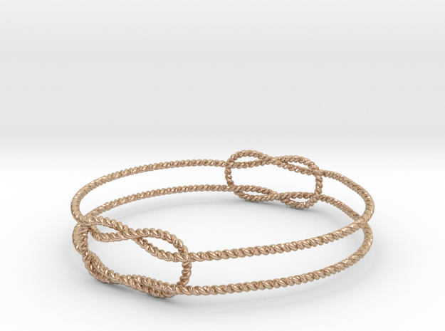 Knots Bracelet in 14k Rose Gold Plated Brass