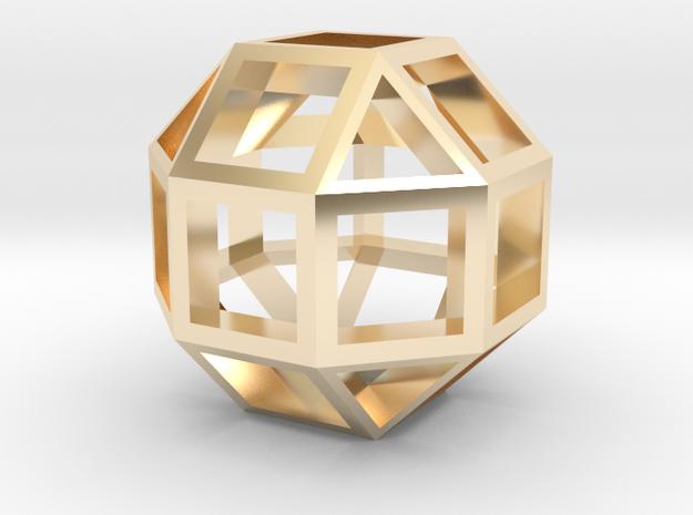 18mm lawal skeletal rhombicuboctahedron gmtrx 1 in 14k Gold Plated Brass