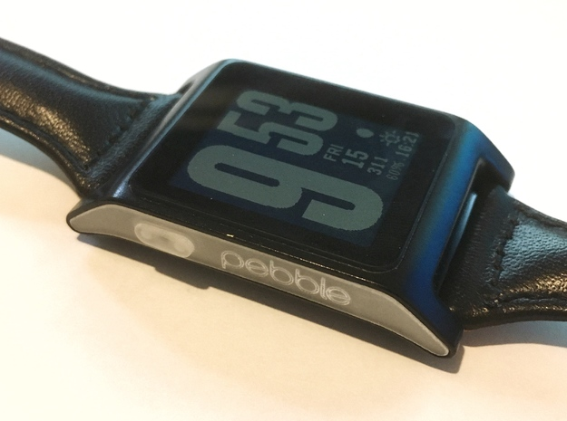 Pebble 2 buttons | logo all-in-one in Smoothest Fine Detail Plastic