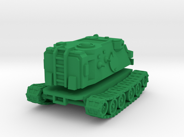 15mm SciFi Halberd tracked vehicle in Green Processed Versatile Plastic