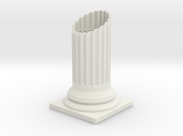 Doric Column Penholder in White Natural Versatile Plastic