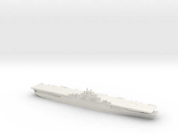 US Essex-Class Aircraft Carrier (v3) in White Natural Versatile Plastic: 1:1800