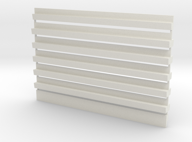 Profil-Halbzeug Set 5 Waggon-Sitzbank - 1:120 TT in White Natural Versatile Plastic