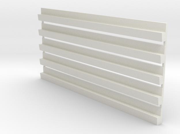 Profil-Halbzeug Set 1 Waggon-Sitzbank - 1:120 TT in White Natural Versatile Plastic