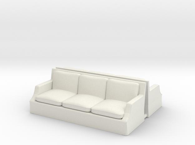 Arm Sofa Ver01. 1:43 Scale. in White Natural Versatile Plastic