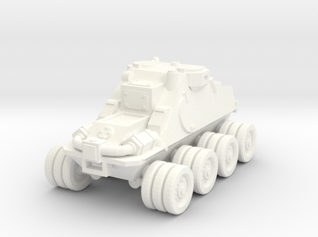 15mm 8x8 scout car in White Processed Versatile Plastic