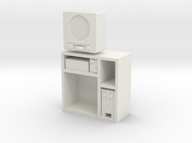 1:16 German DKE 38b Radio in Cabinet in White Natural Versatile Plastic