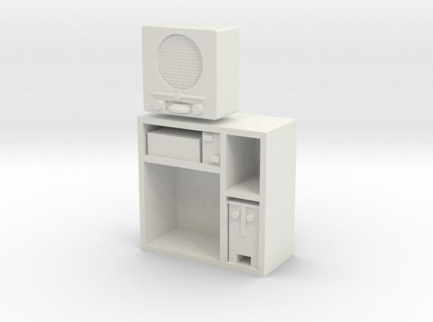 1:18 German DKE 38b Radio in Cabinet in White Natural Versatile Plastic