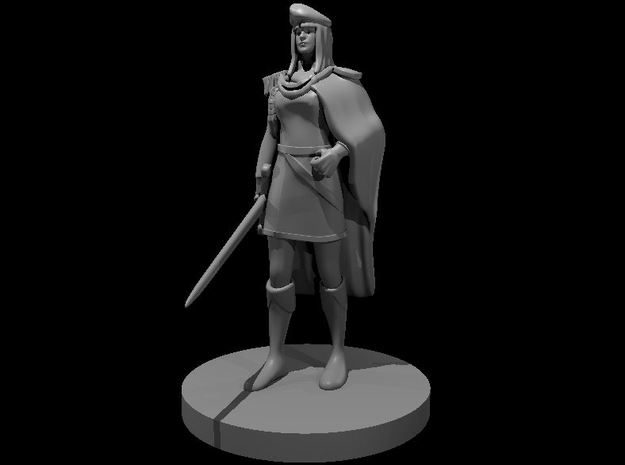 Female Noble in Smooth Fine Detail Plastic