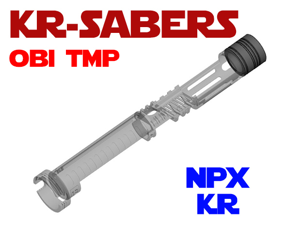 KR - OBI TMP - NPX holder KR in White Natural Versatile Plastic