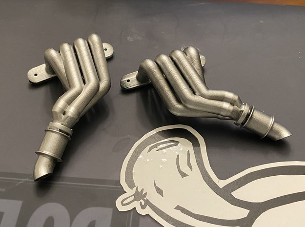 Magnaflow-style header for Axial SMT-10 in White Natural Versatile Plastic