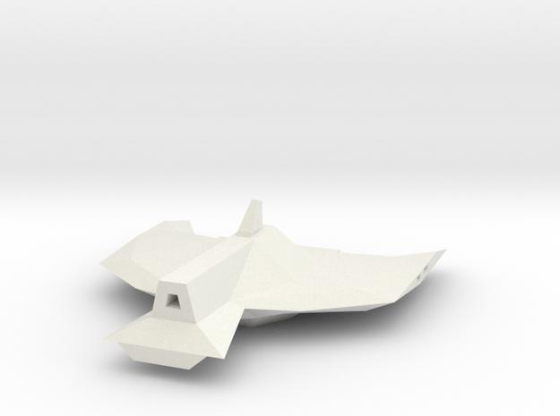 1/1000 Serpens Destroyer Secondary Hull (Kit part  in White Natural Versatile Plastic