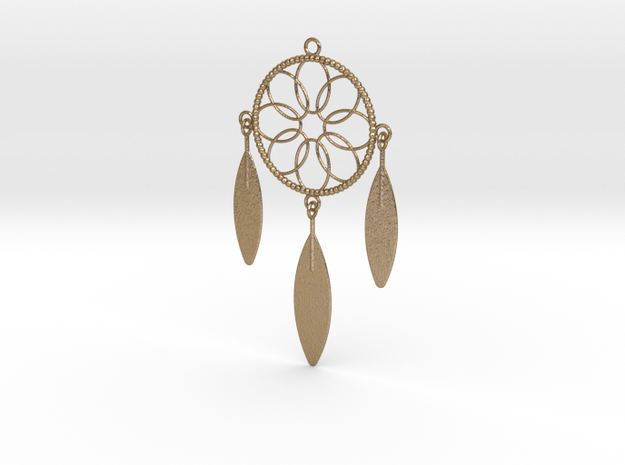 Dreamcatcher in Polished Gold Steel