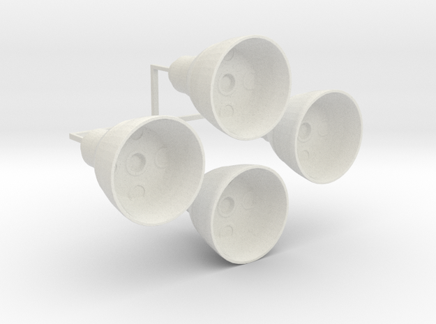 "Engine Bells for 12"" Eagle Kit! in White Natural Versatile Plastic"