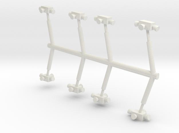 "12"" Eagle Kit pod thruster upgrade (8) in White Natural Versatile Plastic"