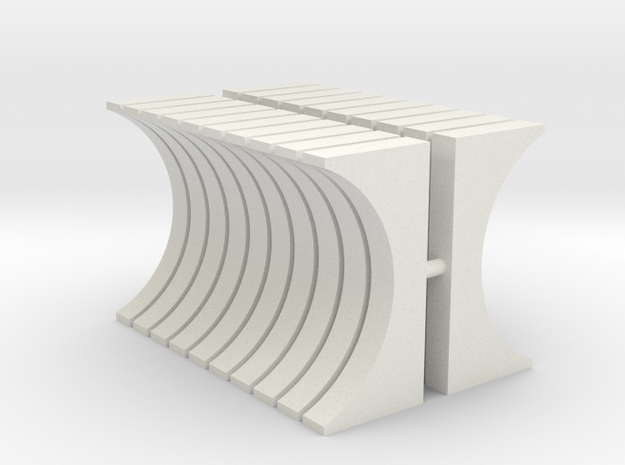 30mm Diameter Pipe Support (HO - 1:87) 20X in White Natural Versatile Plastic
