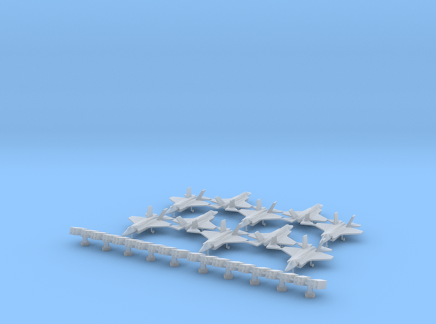 F-35 (10x) (1:340) & Sea Sparrow Launcher (1:300) in Smooth Fine Detail Plastic