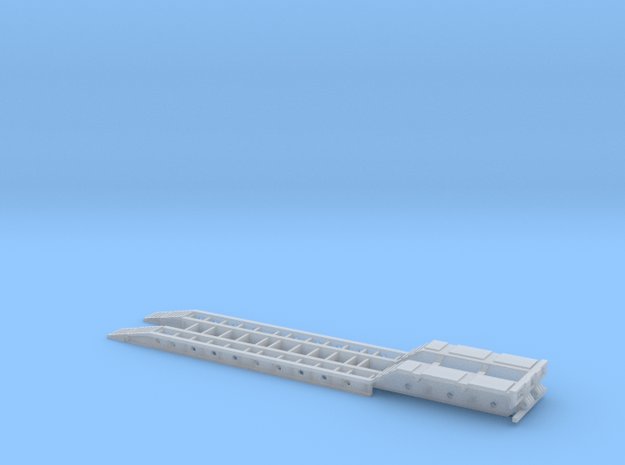 3-Axle Lowboy - Ramps Down, No Gooseneck in Smooth Fine Detail Plastic