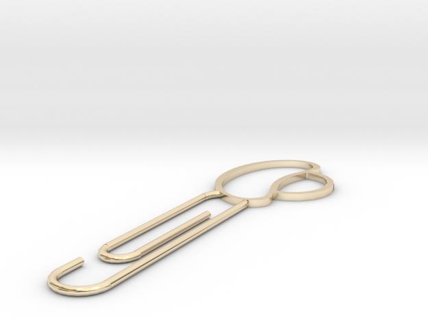 Ingot hairpin in 14k Gold Plated Brass