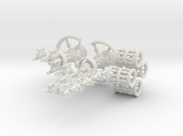 Human Ship Pack in White Natural Versatile Plastic