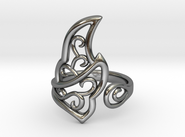 Kaya's Ring in Polished Silver