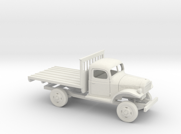 1/48 1945-50 Dodge Power Wagon Flat Bed in White Natural Versatile Plastic