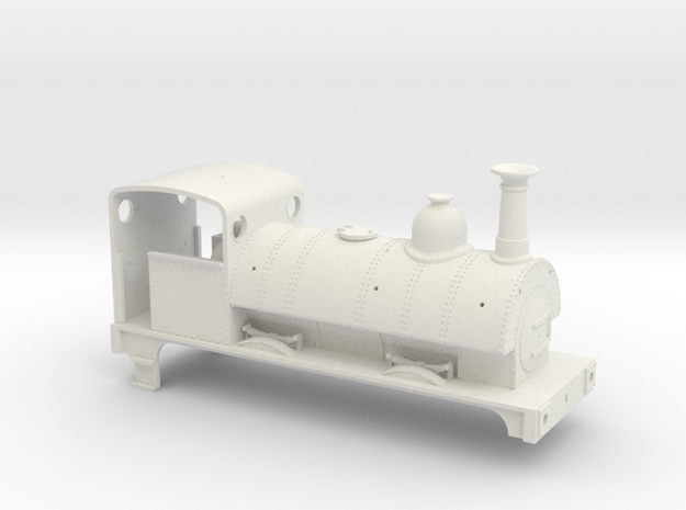 Furness Railway Sharp Stewart 0-4-0st in White Natural Versatile Plastic