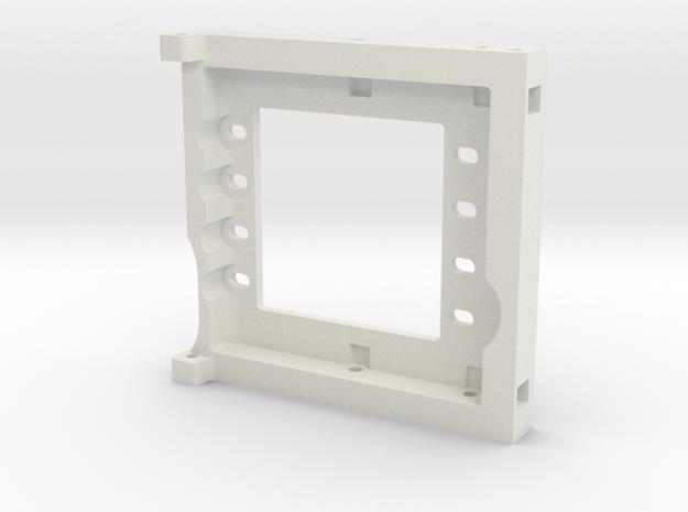 JaBird RC Dual Servo Plate in White Natural Versatile Plastic