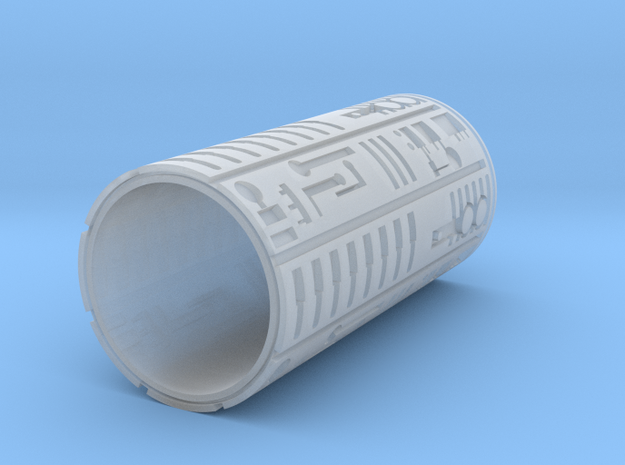 Plug Tube  in Smooth Fine Detail Plastic
