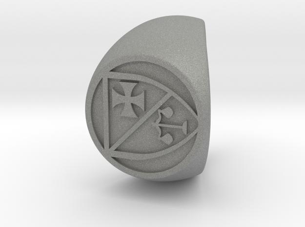 Custom Signet Ring 95 in Gray PA12