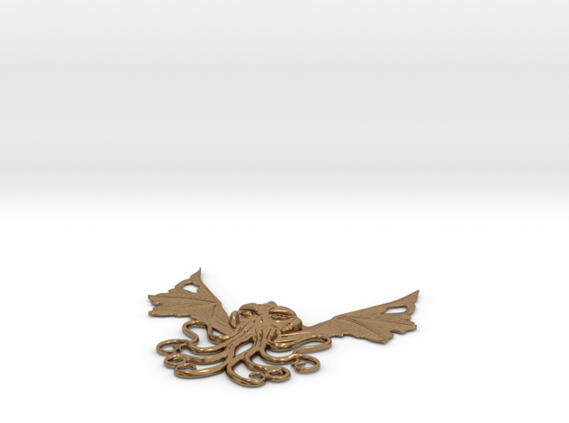 Winged Cthulhu Necklace 3d printed