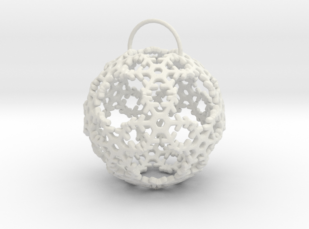 Snow Ball Ornament in White Strong & Flexible