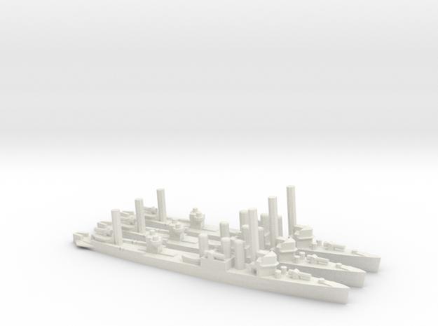 US Clemson-Class Minelayer in White Natural Versatile Plastic: 1:1800