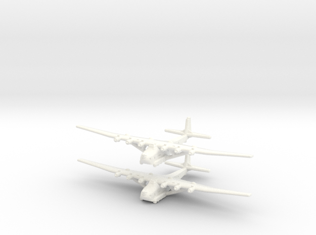 Me-323 E2/WT German Gunship -1/600- (Qty. 2) in White Processed Versatile Plastic